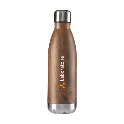 Mainos- ja promotuotteet - Tyylikäs juomapullo puukuviolla