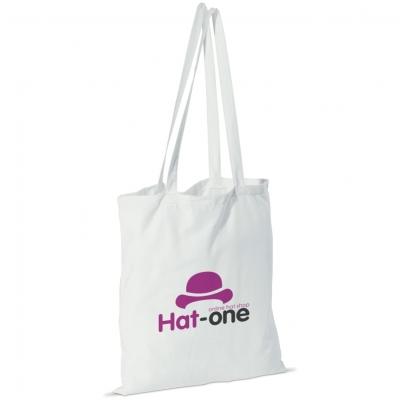 Kassit ja laukut omalla logolla - Puuvillakassi pitkillä kantokahvoilla