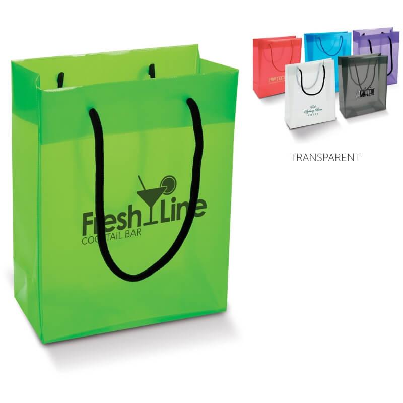Kassit ja laukut omalla logolla - Kassi läpikuultavissa väreissä