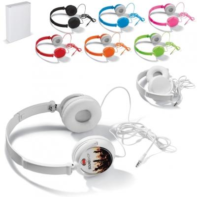 Mainos- ja promotuotteet - Pyörivillä korvakupeilla varustetut kuulokkeet