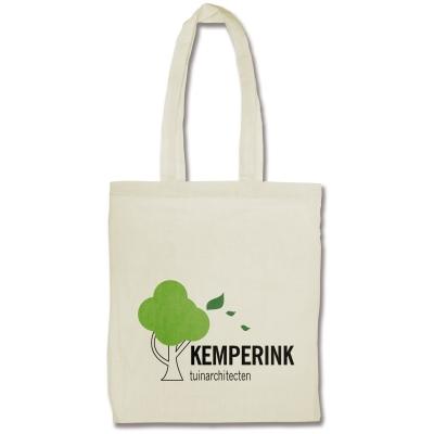 Kassit ja laukut omalla logolla - Luonnonvalkoinen puuvillakassi