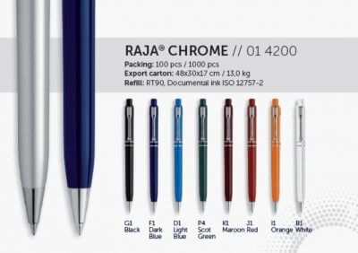 Raja Chrome kynä